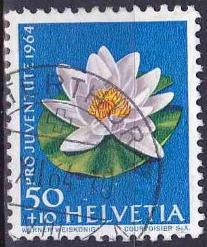 SUISSE 1964 OBLITERE N° 742 Fleurs