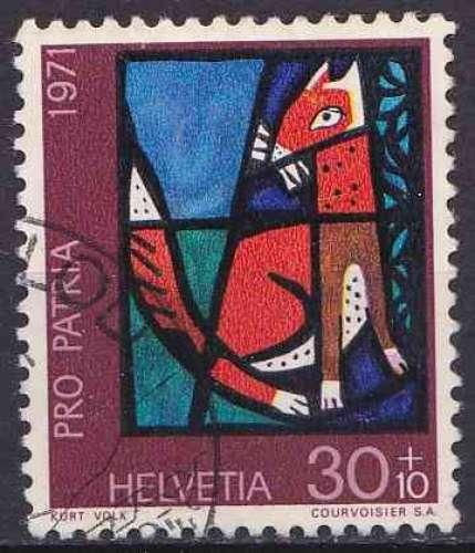 SUISSE 1971 OBLITERE N° 880
