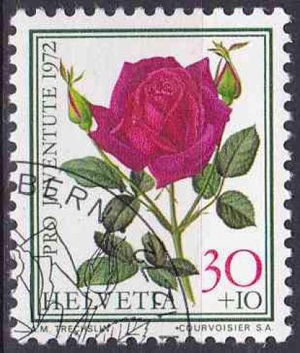 SUISSE 1972 OBLITERE N° 916 Fleurs
