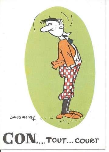 CPM - Illustrateur Lassalvy - Con... tout... court - Dos scanné