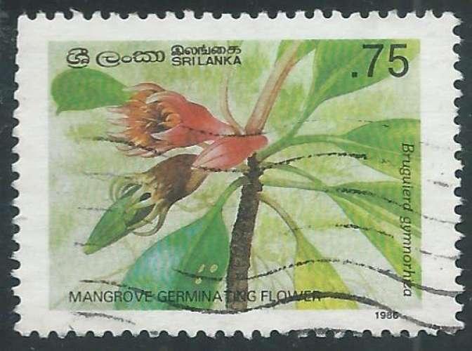 Sri Lanka - Y&T 0783 (o) - Fleurs -