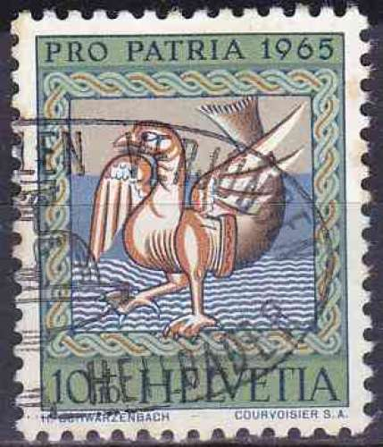 SUISSE 1965 OBLITERE N° 748