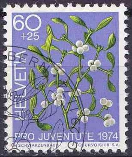 SUISSE 1974 OBLITERE N° 975 Fleurs