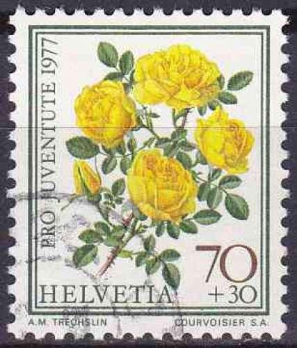 SUISSE 1977 OBLITERE N° 1044 Fleurs