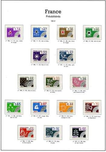 France - neufs ** - timbres années 84-87 à 80 % de la faciale