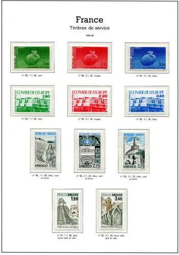 France - neufs ** - timbres années 85-86 à 80 % de la faciale