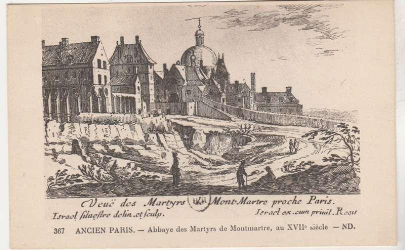 Cpa  75 Ancien Paris Abbaye des Martyrs de Montmartre au XVIIe siècle