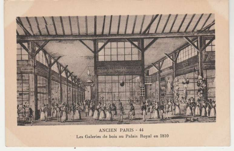 Cpa  75 Ancien Paris Les galeries de bois au Palais Royal en 1810