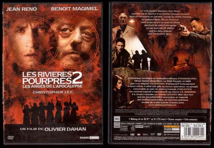 DVD  Les rivières pourpres 2 Les anges de l'apocalypse Jean Reno, Benoit Magimel, Christopher Lee