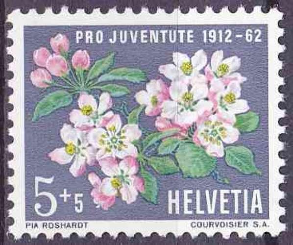 SUISSE 1962 NEUF** MNH N° 700 fleurs