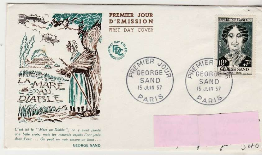 FDC  George Sand  YT 1112
