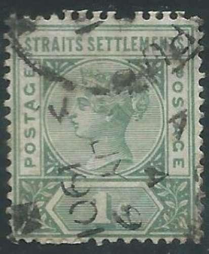 Malaisie - Malacca - Y&T 0065 (o) - Reine Victoria -