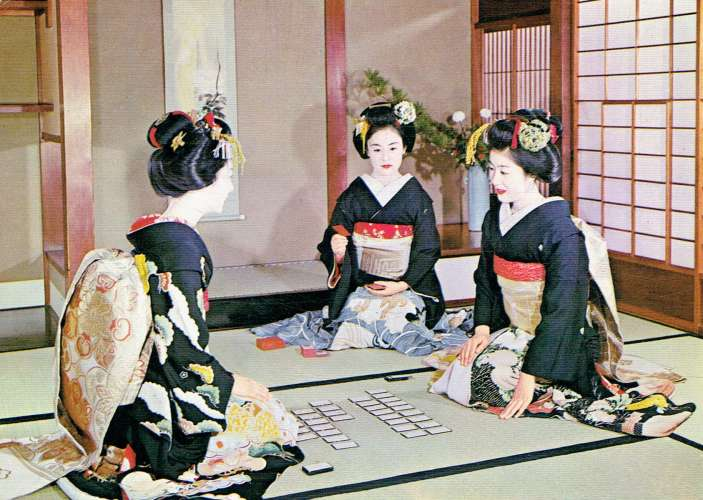 Maiko playing cards ( Kyoto)