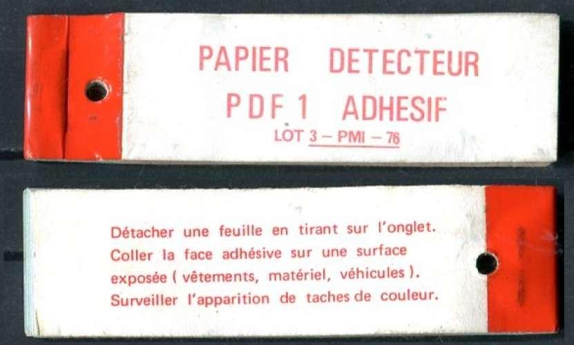 France - Papier détecteur PDF1 - RARE ! complet