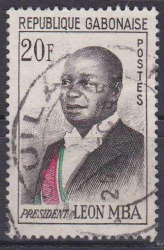 Gabon 1962 YT 159A Obl Président Leon MBa