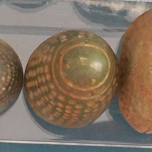 Superbe Dé en forme d'obus du XIIIe siècle en bronze (rare)