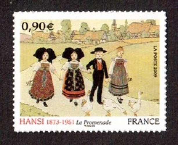 France 2009 Y&T 370 ** autoadhésif entreprise  Hansi la promenade