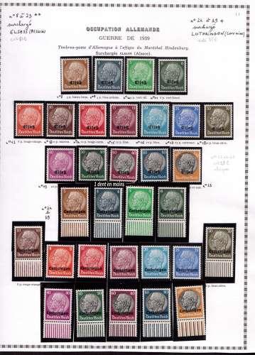 PROMO : 20€ au lieu de 25 ! France  Y&T 8 à 23 ** et 24 à 39 *  timbres d'Allemagne de 1933-36