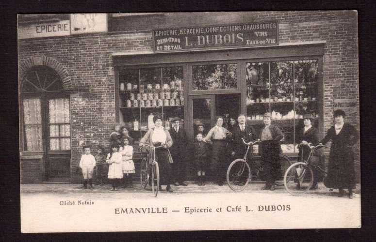 PROMO : 30€ seulement France CPA Emanville ( Eure ) épicerie et café l. Dubois