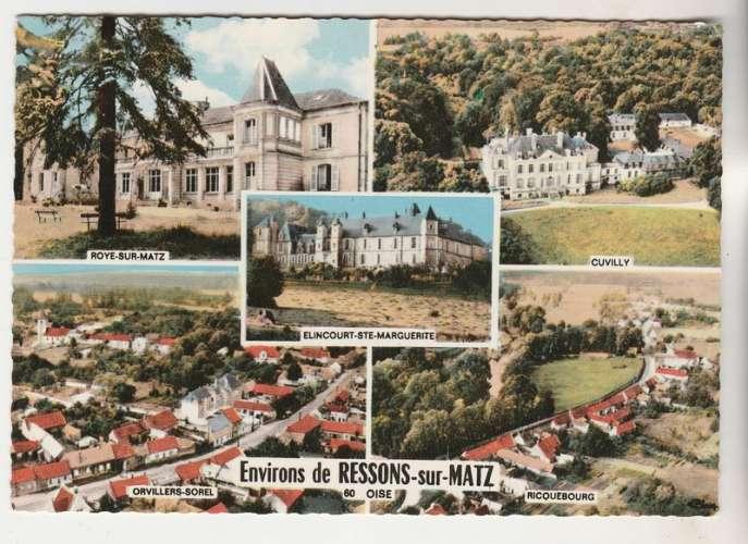 cpsm  60 Environs de Ressons-sur-Matz multivues