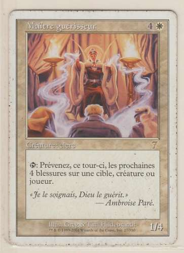 CARTE MAGIC - 7E EDITION - MAITRE GUERISSEUR