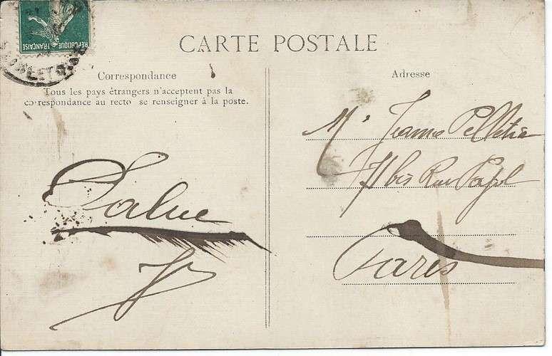 CPA - 78 - Mesnil-Saint-Denis - Eglise - Carte toilée - Colorisée - Dos scanné