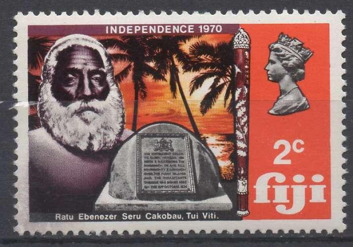 Fidji 1970 - Mi : 271 - Roi Cabokau (N**)