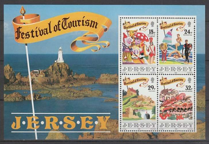 BLOC NEUF DE JERSEY - FESTIVAL DU TOURISME N° Y&T 5