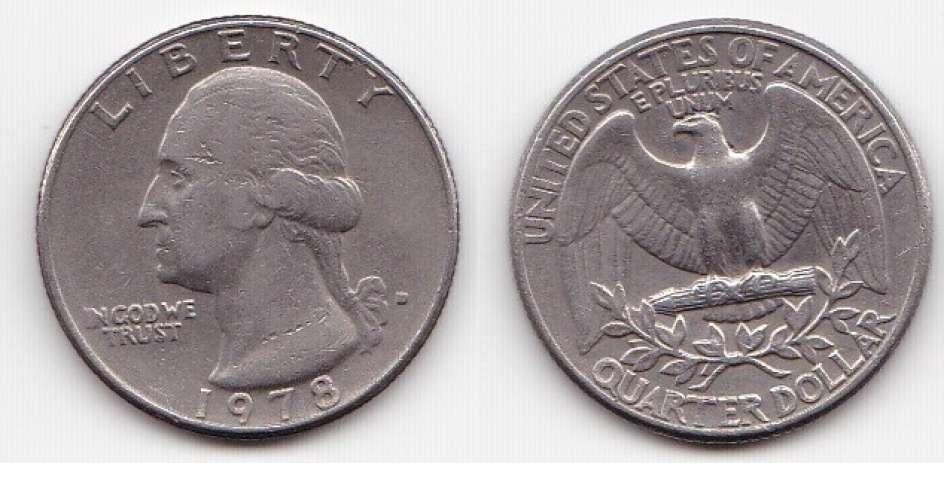 ETATS UNIS quater dollar washington année 1978