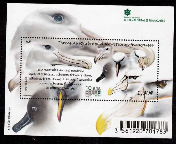 TAAF 790 feuillet  Albatros neuf **TB MNH prix de la poste 1