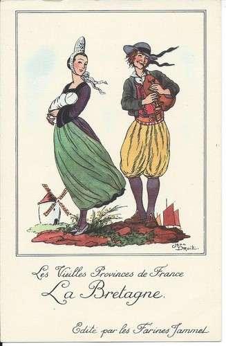 Chromo - La Bretagne - Provinces de France - Farines Jammet - Dos scanné