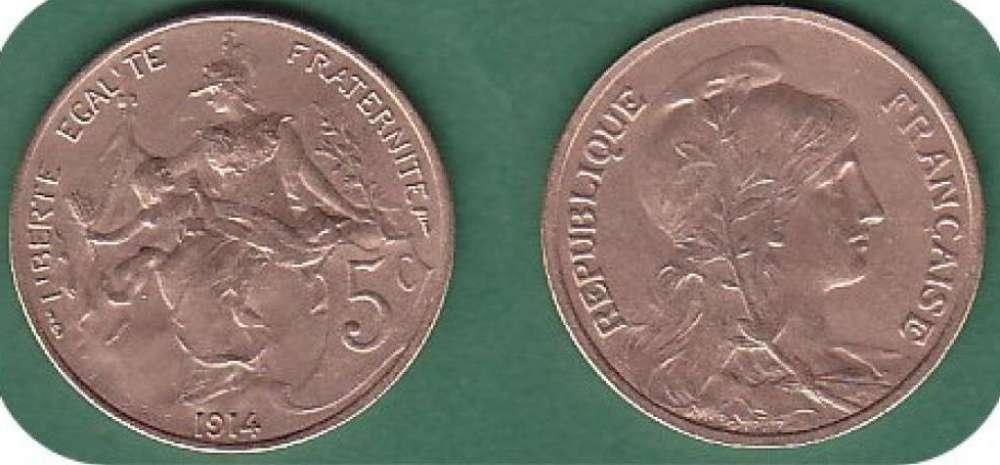 france 5 centimes dupuis  annee 1914