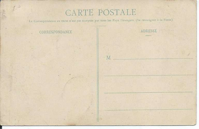CPA - 42 - Le Cergne - Croix Couverte - Dos scanné