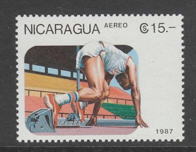 TIMBRE NEUF DU NICARAGUA - COURSE DE VITESSE N° Y&T PA 1215