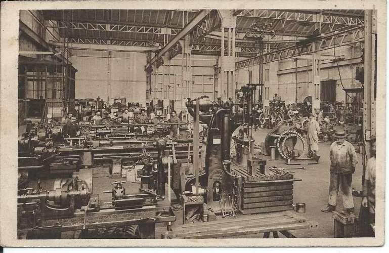 CPA - 81 - Mines de Carmaux - Atelier de réparations - Dos scanné
