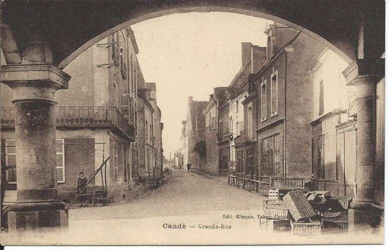 CPA - 49 - Candé - Grande Rue - Dos scanné