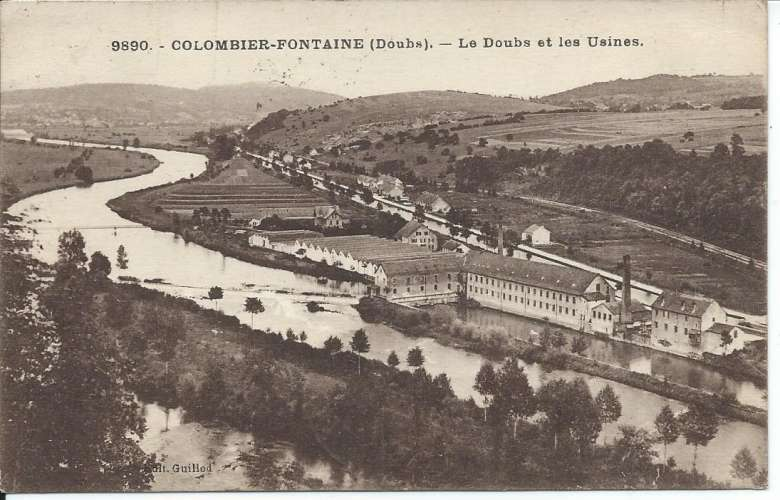 CPA - 25 - Colombier-Fontaine - 1931 - Y&T 237 - Dos scanné