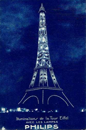 CPA  Illuminations de la Tour EIFFEL avec les lampes PHILIPS