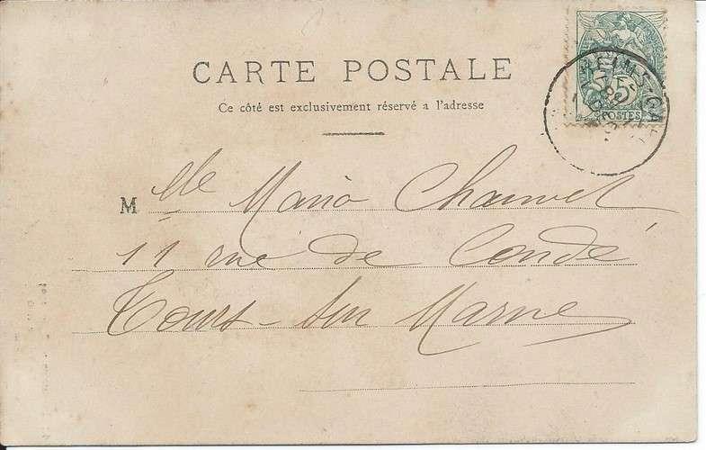 CPA - 51 - Reims - Exposition 1903 - Village Noir - Dos scanné