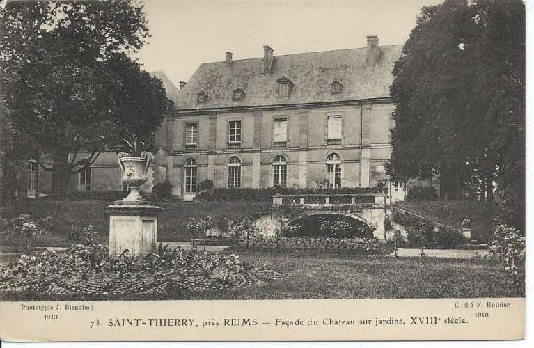 CPA - 51 - Saint-Thierry - Façade du Château - Dos scanné