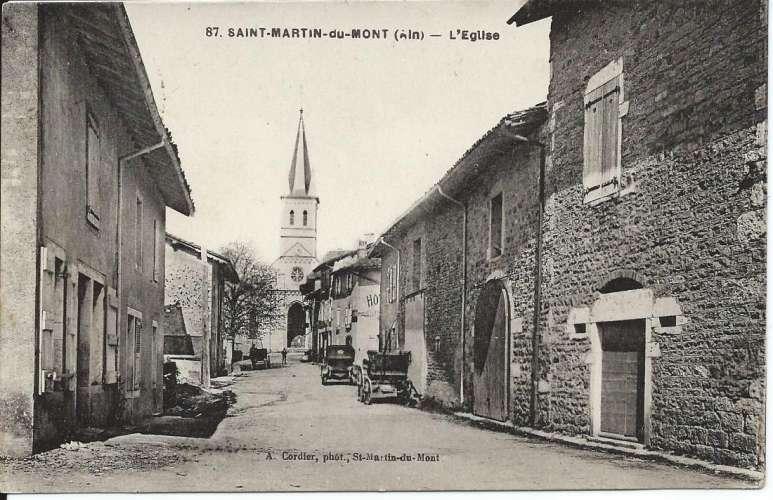 CPA - 01 - Saint-Martin-du-Mont - Eglise - 1932 - Dos scanné