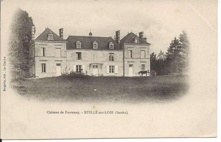 CPA - 72 - Ruillé-sur-Loir - Château de Fontenay - Dos scanné