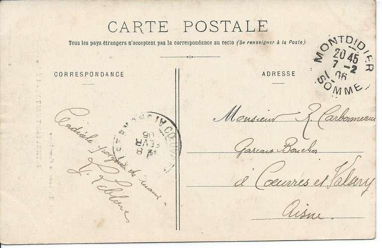 CPA - 60 - Béthisy-Saint-Martin - Eglise - 1906 - Dos scanné
