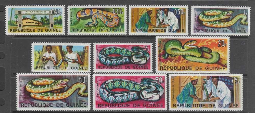 SERIE NEUVE DE GUINEE - INSTITUT DE RECHERCHES ET DE BIOLOGIE APPLIQUEE N° Y&T 316 A 325