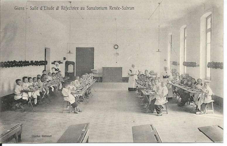 CPA - 83 - Giens - Salle d'Etude et Réfectoire du Sanatorium Rénée Sabran - Dos scanné