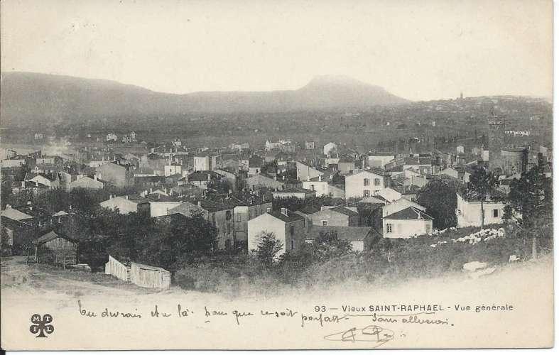 CPA - 83 - Vieux Saint-Raphaël - Vue Générale - Dos scanné