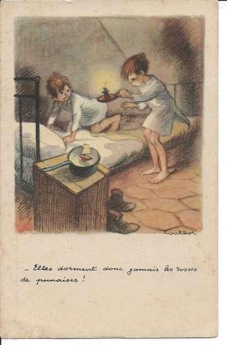 Illustrateur Poulbot - Elles dorment donc jamais les rosses de punaises - Dos scanné