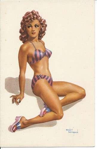 André Bermond - Pin-up - Bikini - Dos scanné