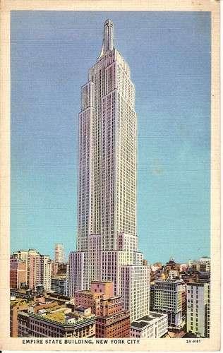 CPA - Etats Unis - New York - Empire State Building - Dos scanné