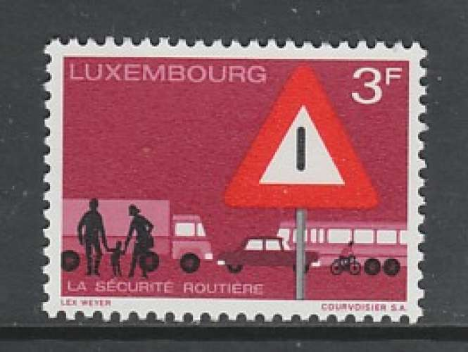 TIMBRE NEUF DU LUXEMBOURG - SECURITE ROUTIERE N° Y&T 759